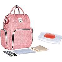 Nappy Changing Backpack Diaper Bag Waterproof Wide Open