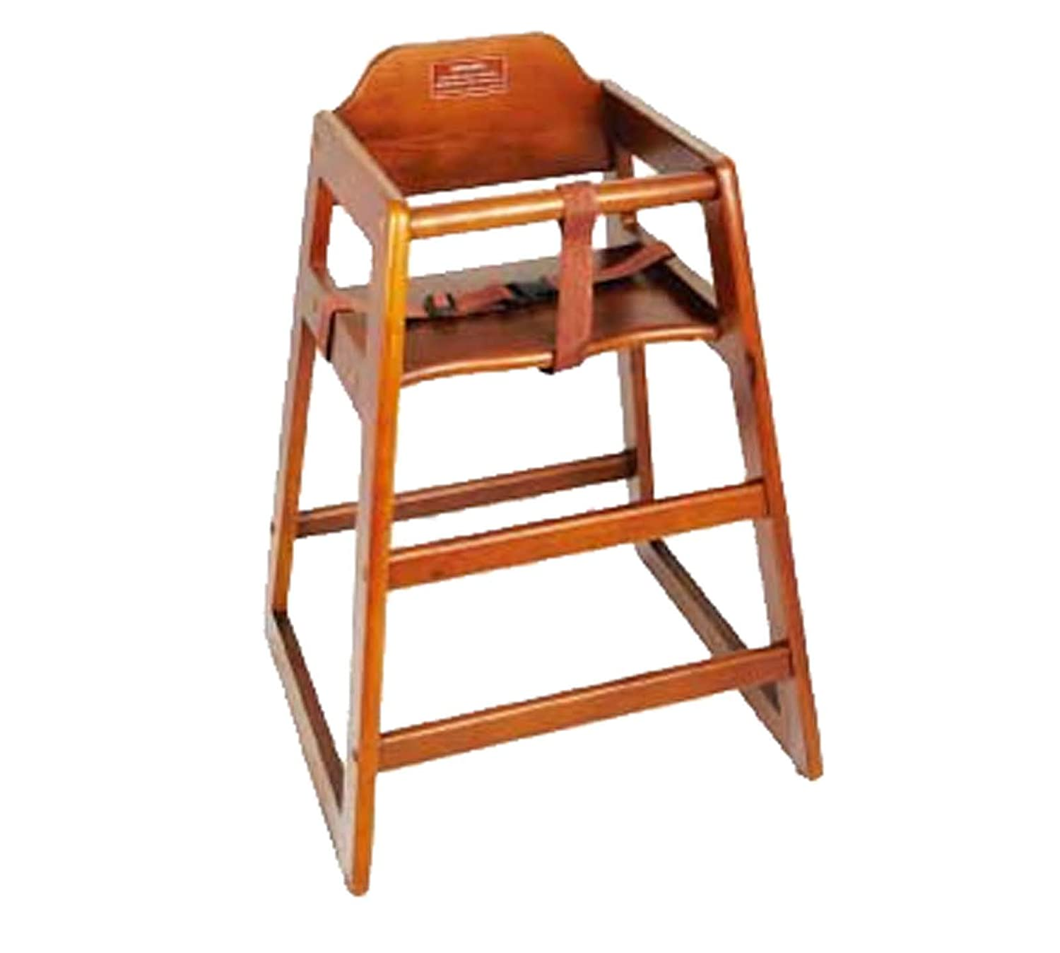 Winco CHH-104 Unassembled Wooden High Chair, Walnut Winco USA