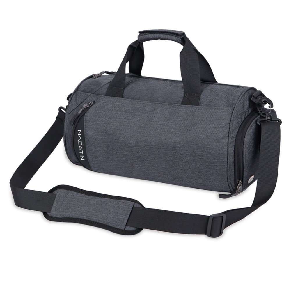 NACATIN 25L Sports Gym Bags for Men and Women with Separated Shoe Compartment (Gray)