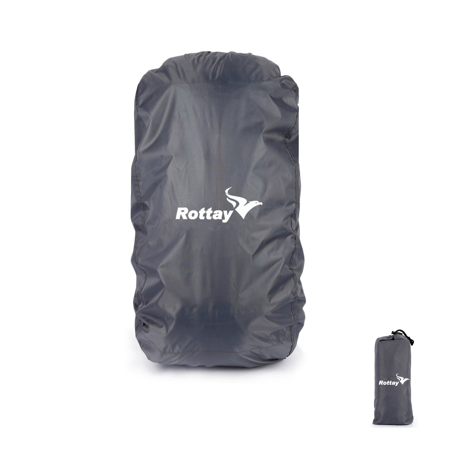 Waterproof Backpack Cover, Rottay Backpack Rain Covers(40L, 45L, 50L, 55L, 60L) for Hiking/Camping/Climbing/ Cycling