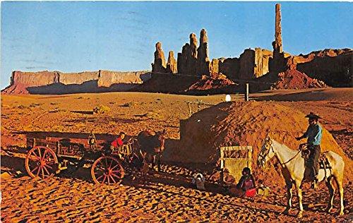 Navajo Family lives in Monument Valley, Yei Bichai Dancer AZ, USA