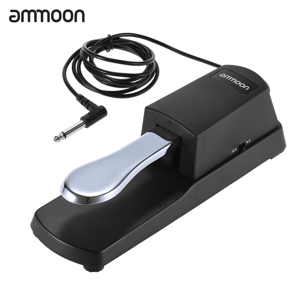 ammoon Piano Keyboard Sustain Damper Pedal for Casio Yamaha Roland Electric Piano Electronic Organ