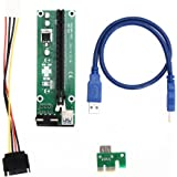 Rrimin USB 3.0 PCI-E Express 1x to 16x Extender Riser Card Adapter SATA Power Cable (107097)