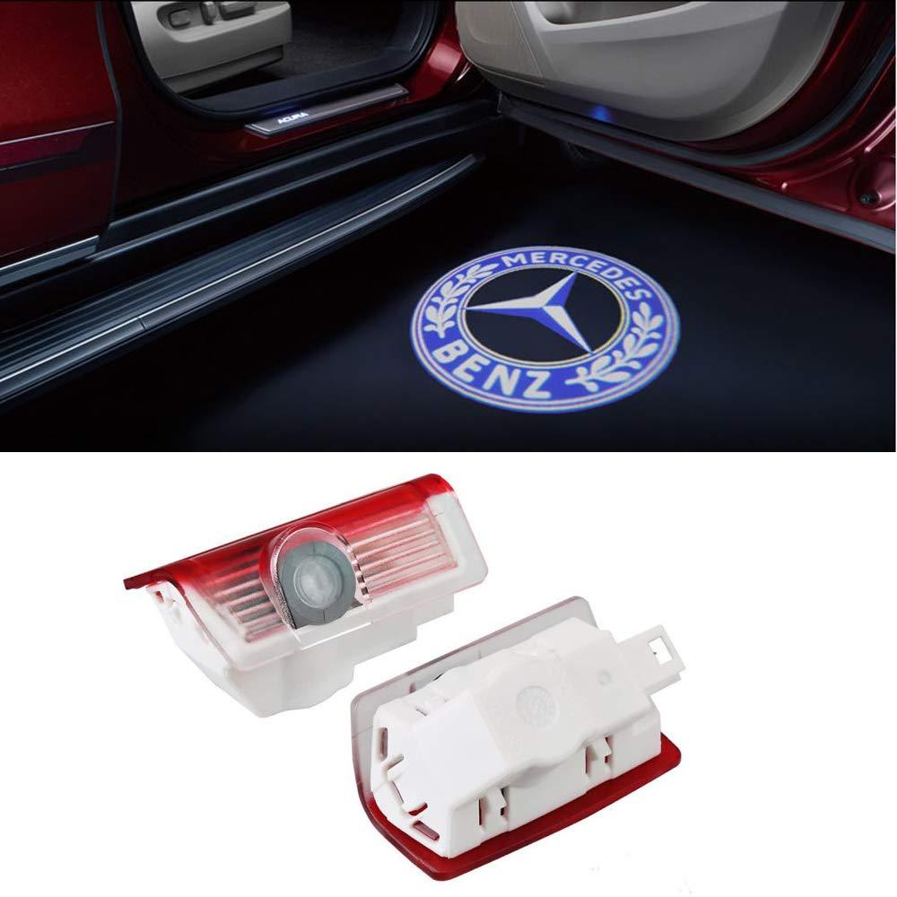 E Car Shadow Light 3D Logo Porte LED Ghost Shadow Light Logo Projecteur Lumi/ères De Courtoisie Auto R/étro/éclairage Car Styling Welcome Lamp