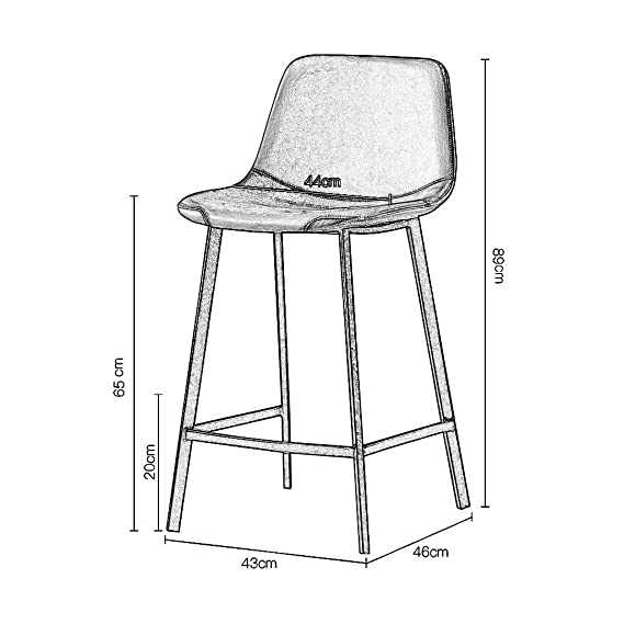 Amazon.com: NLLPZ-STOOL - Taburetes de bar modernos con ...