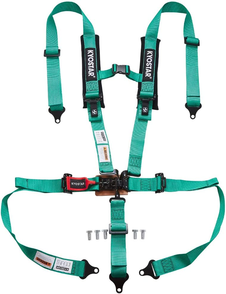 black Kyostar 2-inch 4-point racing safety harness
