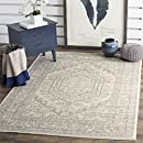 Safavieh Adirondack Collection ADR108B Ivory and Silver Oriental Vintage Medallion Square Area Rug (8' Square)