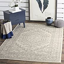 Safavieh Adirondack Collection ADR108B Ivory and Silver Oriental Vintage Medallion Area Rug (4' x 6')