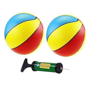YeahiBaby Mini Baloncesto Hinchable con Inflador para Juguete ...