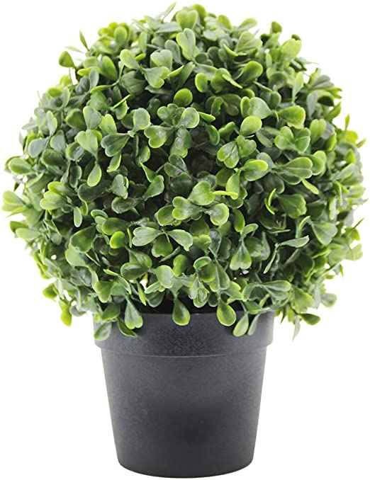 Amazon Com Luckygreenery Artificial Boxwood Topiary Ball