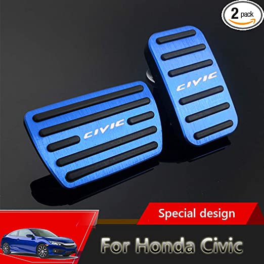 2018 2019 2020 2021 black for Honda 10th Accord Great-luck aluminium alloy Gas Accelerator Pedal Covers,Anti-Slip No Drilling Brake Foot Pedal Pads Kit 2 pieces//set