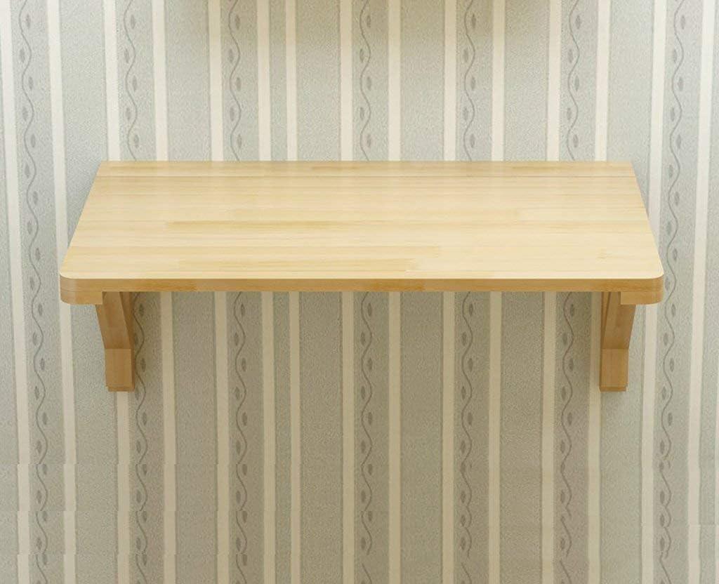 ソリッドウッド折りたたみテーブルウォールテーブルダイニングテーブルコンピュータテーブルスタディデスクウォールテーブル壁掛け折りたたみテーブル(サイズ:80 * 50cm)