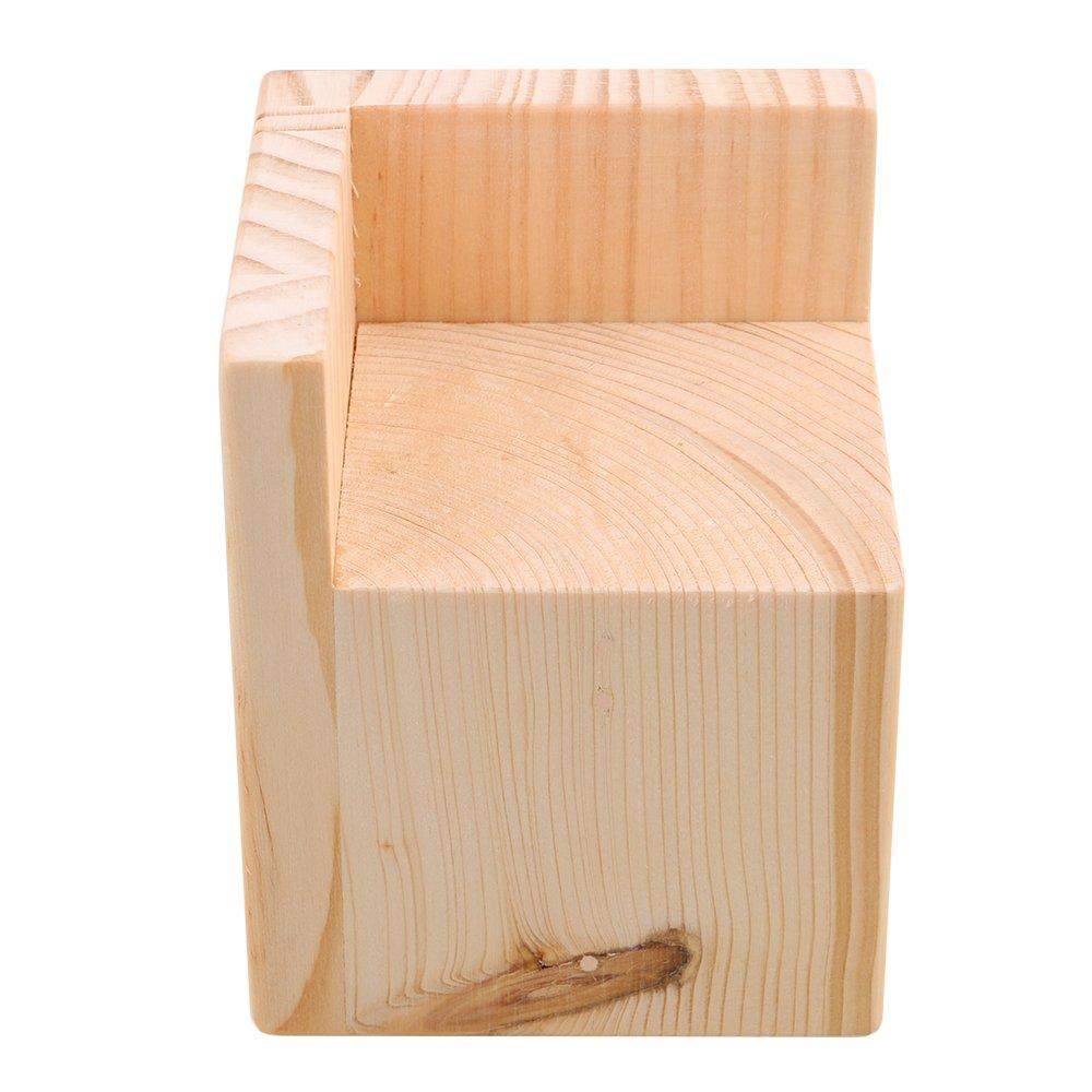 BQLZR 7.5x7.5x7.3cm Semi-cerrado Mesa de madera en forma de L Escritorio de la cama Riser Lift Lifter Almacenamiento de muebles para 6x6cm Pies hasta 5CM Levante M4170911026