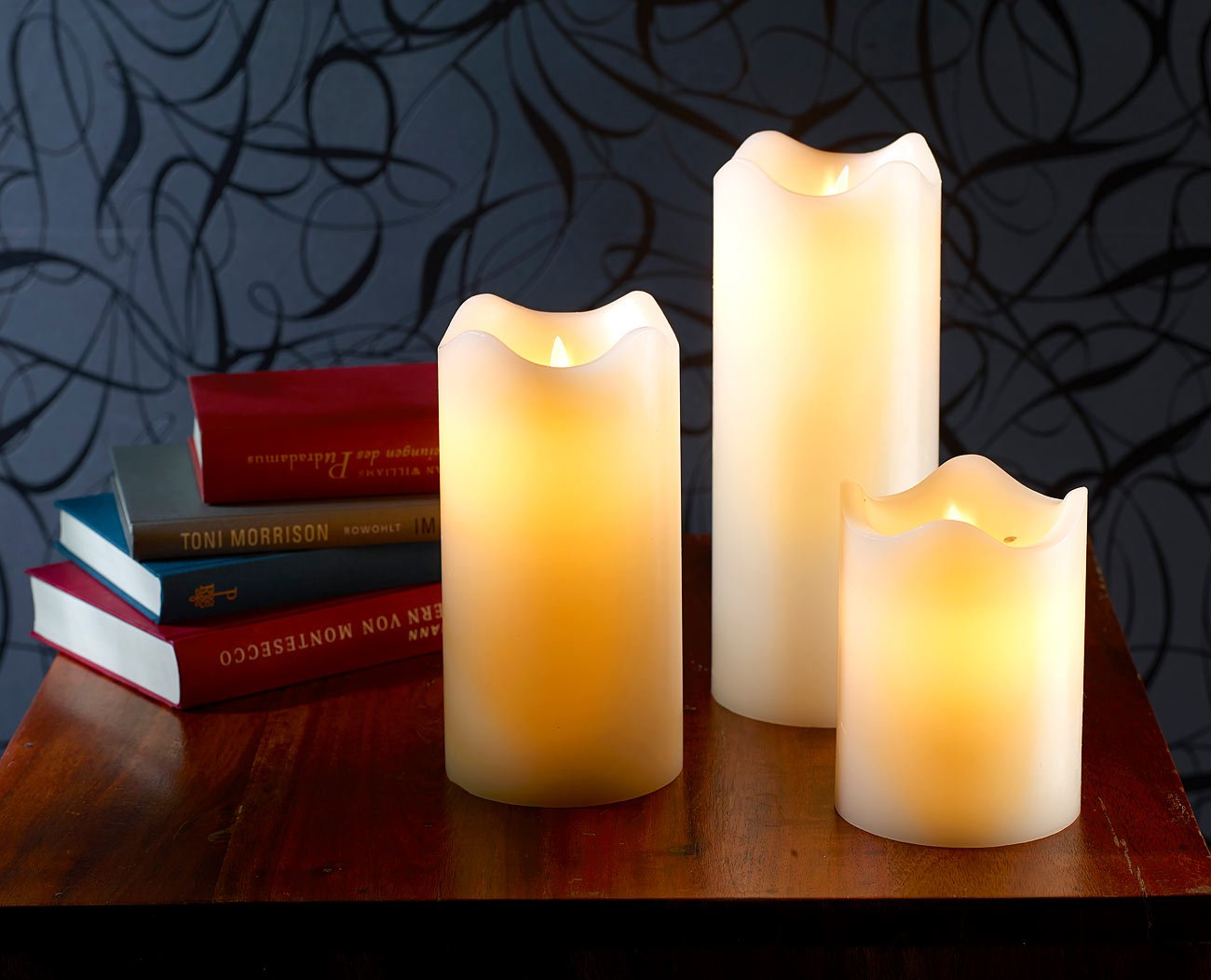 Britesta Elektro Kerzen 23 cm hoch LED Kerze mit beweglicher Flamme LED-Echtwachskerze mit beweglicher Flamme