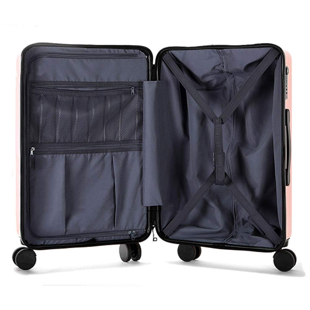 TSA Custom Code Lock 5 Patterns Optional Multi-functi Frosted Pearlescent Surface MING REN Luggage Sets Trolley Case ABS//PC Small Fresh Student Creative Plant Travel Large Capacity Trolley Case
