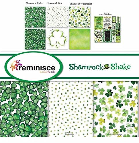Shamrock Shake St Patricks Day - 12x12 Scrapbook Paper & Stickers Set - by Reminisce