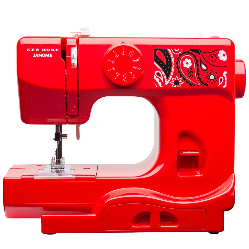 Janome Watermelon Crush Basic, Easy-to-Use, 10-Stitch Portable, Compact Sewing Machine with Free Arm only 5 pounds 001CRUSH