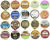 Crazy Cups Adventure Gift Sample, Single-Cup Coffee Pack Sampler for Keurig K-Cup Brewers, 20-Count