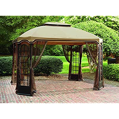 Sunjoy 110109439 Universal to L-GZ454PST-C-ST-Deluxe Replacement Canopy Set : Garden & Outdoor
