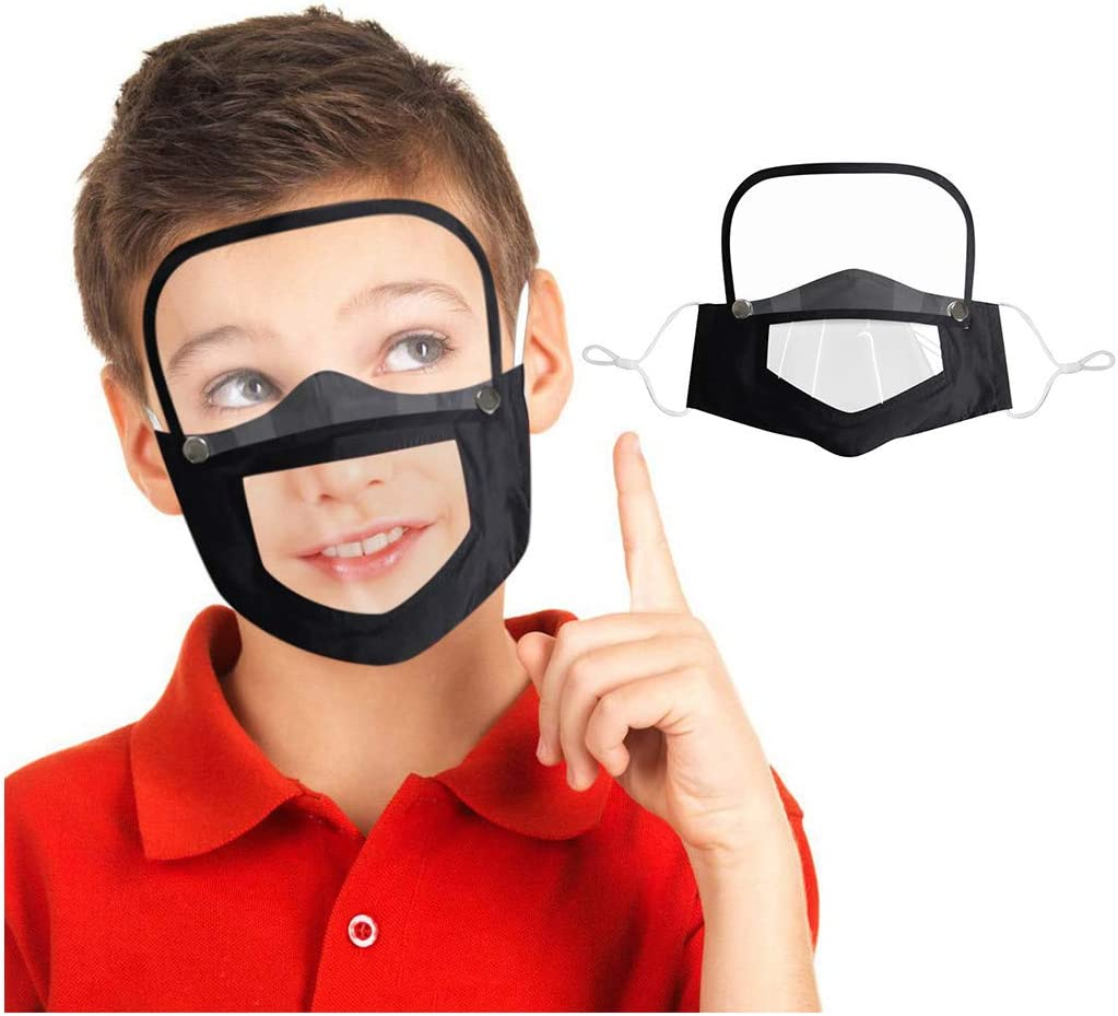 Reusable Cotton Face Bandanas with Breathing Valve for Children Kids Protective Eyes Shield protections with 2 Filters