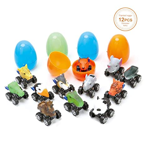 Amazon Volwco Pull Back Dinosaur Cars12 Pack Play Set