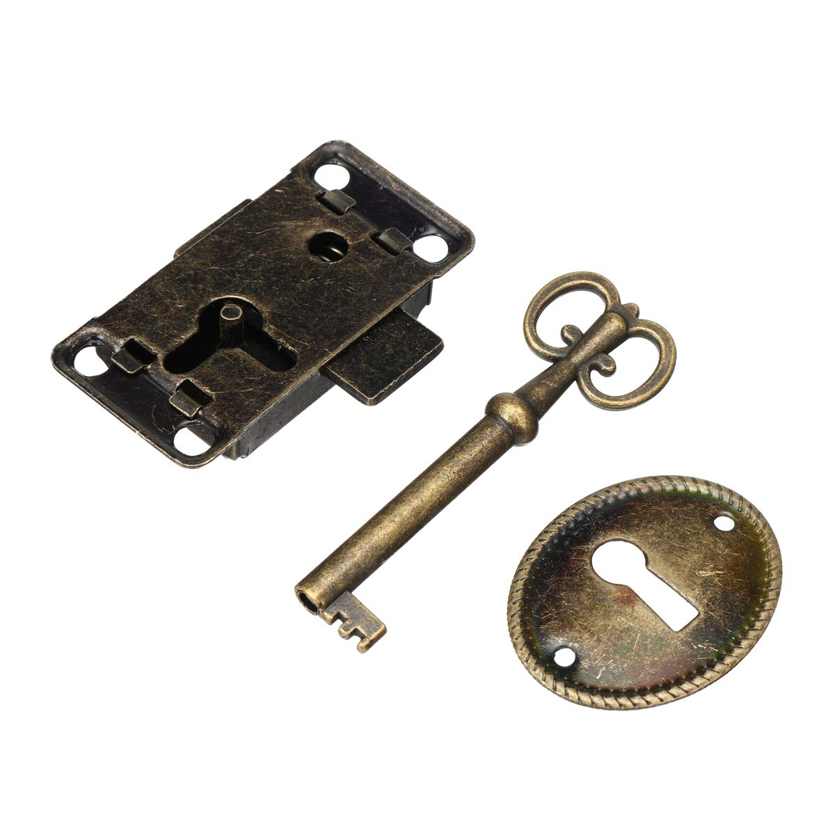 TuToy Armadietto Porta Serratura Set Chiave Gioielli Antichi Trucco Caso Mobili Porta Cassetto Serratura