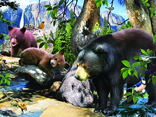 Four Black Bears 300 pc Jigsaw Puzzle by SunsOut