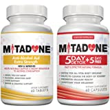 Mitadone Anti-Alcohol Aid and 5+5 Detox Combo Multi Vitamin (120 Count ) - Quit Drinking & Eliminate Cravings/Symptoms - Made with Kudzu Root & Milk Thistle