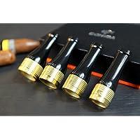 NEW COHIBA Gloss Silver Pure Copper Resin Cigar Pipe Holder Nozzle 4 Sizes (Gold)