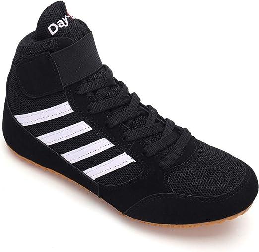 OUCB Chaussures Lutte, Respirant Léger Boxe Bottes en