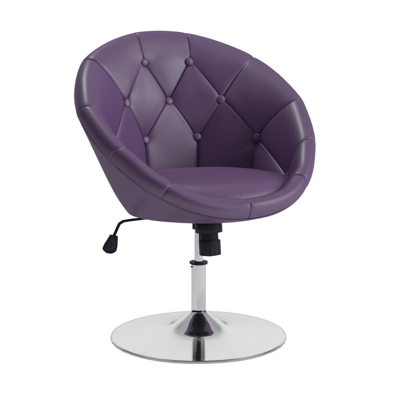 Amazon Coaster Round Back Swivel Chair Purple