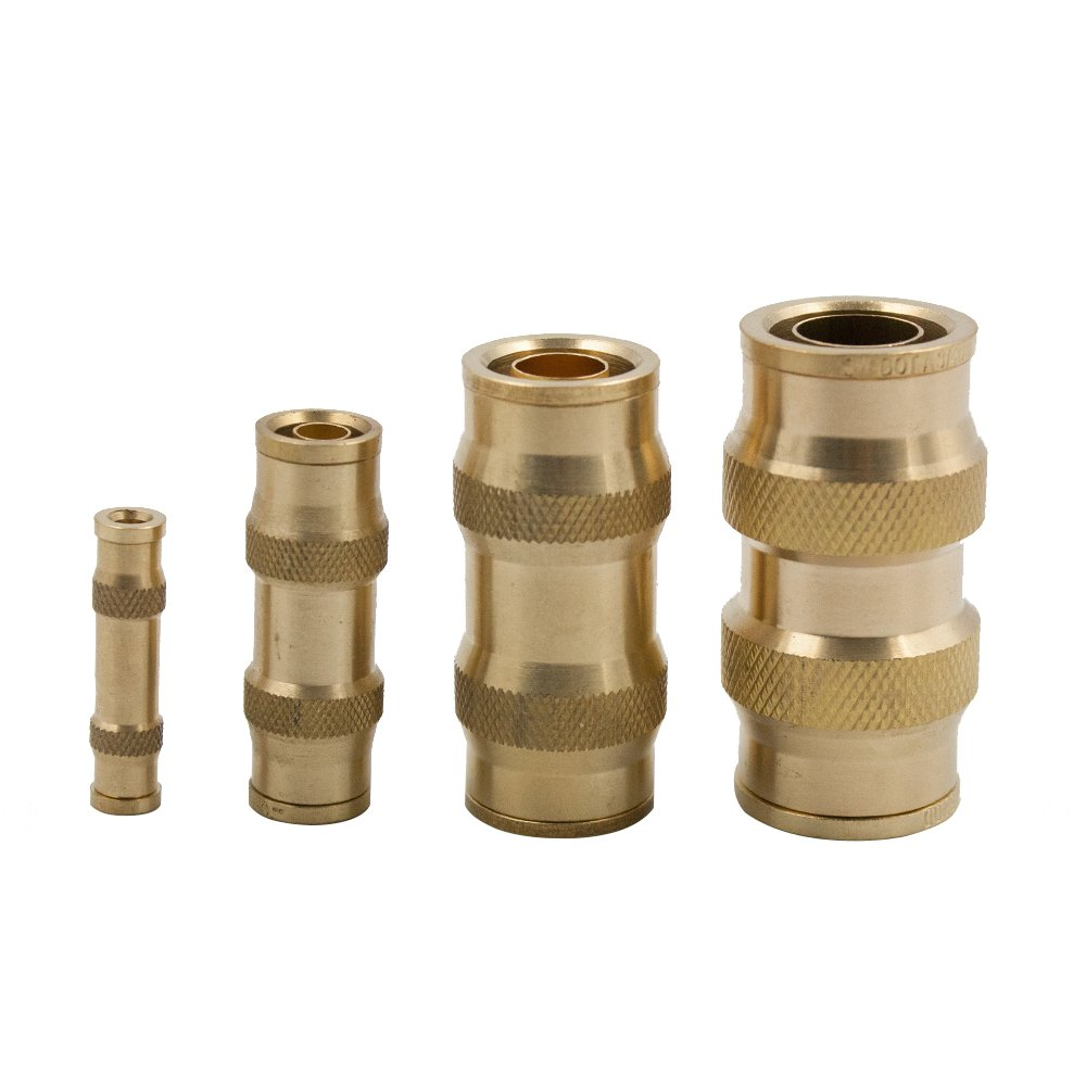 Air Brake Union Legines DOT Brass Push in Fitting Pack of 2 3//8 Tube OD