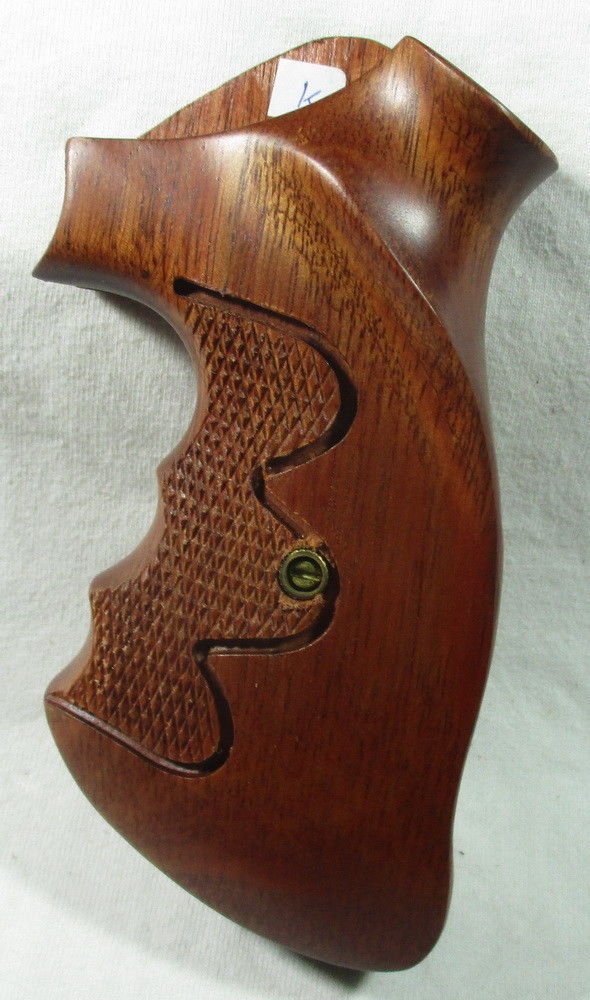 Smooth as Silk WOOD CHECKERED GRIPS FOR S &W REVOLVERS, K, L FRAME, SQUARE ROUND BUTT FINGER GROOVES, NEW by Smooth as Silk (Image #8)