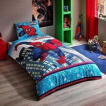 Spiderman Ultimate 3 Pcs Twin / Single Size %100 Cotton Duvet Cover Set Bedding Linens