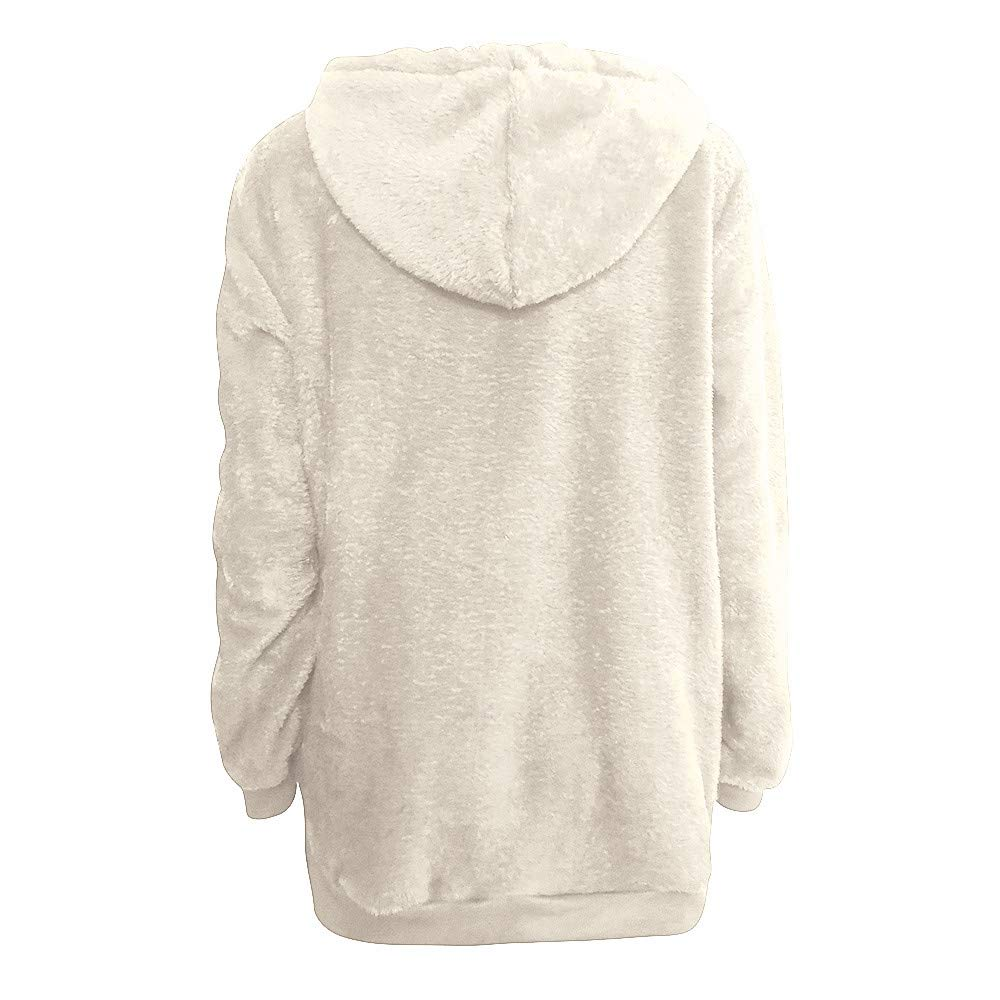 chengzhijianzhu_Women Shirts Tops Women Warm Fluffy Winter Top Hoodie Sweatshirt Ladies Hooded Pullover Jumper at Amazon Womens Clothing store: