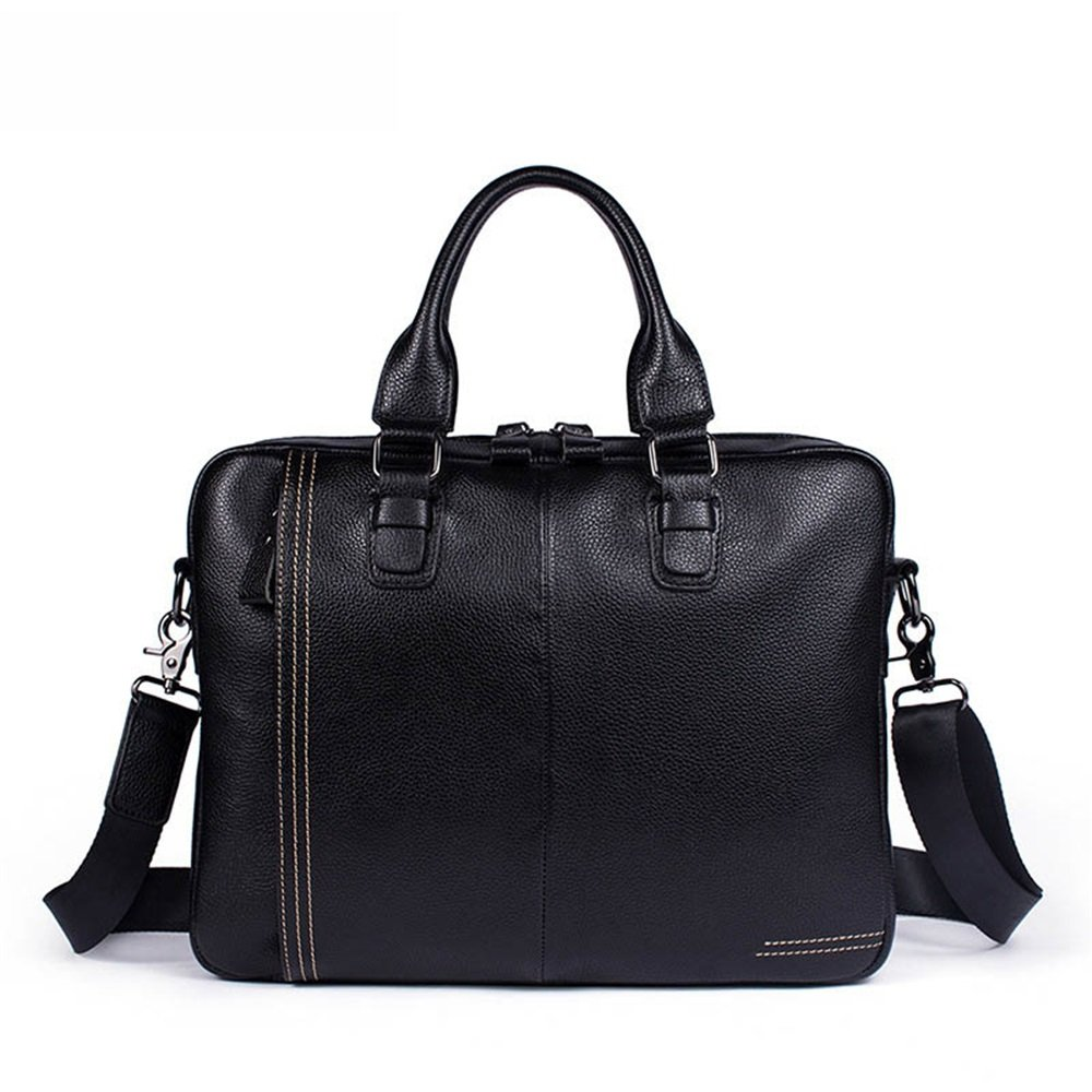 Black FLYSXP Mens Bag Business Mens Briefcase Tote Shoulder Messenger Bag Men 36 28 7cm Briefcase