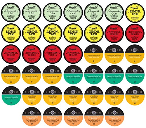 Two Rivers Tea Sampler Pack for K-Cup Brewers, Herbal, 40 Count
