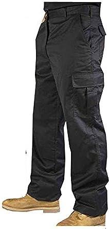 Pantalones Cargo Para Hombres Resistentes Al Desgaste Para Combate Constructores Trabajo Color Negro Amazon Es Ropa Y Accesorios
