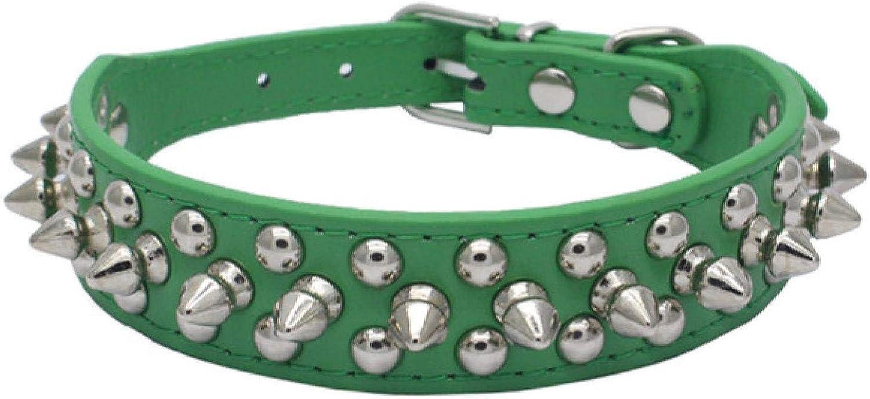 Collar de perro con tachuelas con púas anti-mordedura para perros pequeños, medianos y grandes, acolchado deportivo Bulldog Pug, cachorro, collares para perros grandes, suministros para mascotas