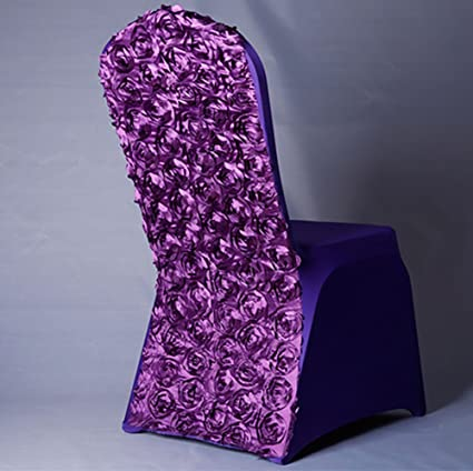 Super Ab Crew Wedding Polyester Chair Cover With Satin Rosette Back For Restaurant Hotel Party Decoration Use Dark Purple Alphanode Cool Chair Designs And Ideas Alphanodeonline