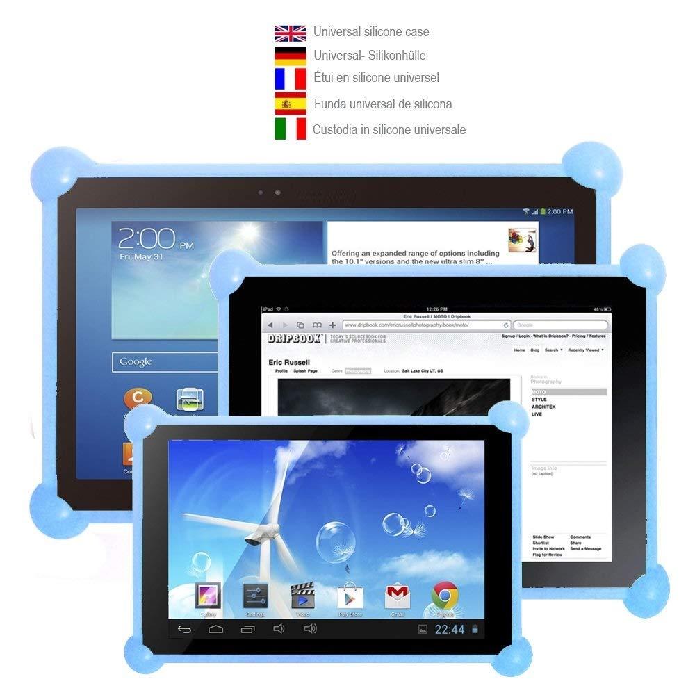 Color Dreams® Funda tablet silicona universal. Funda silicona tablet pc compatible con cualquier tablet de cualquier tamaño. La funda ideal para ...
