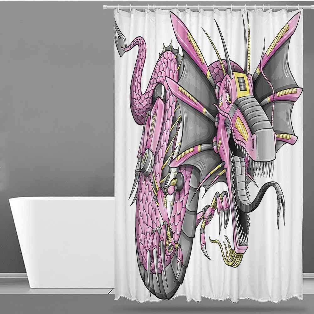 VIVIDX - Cortinas para mampara de Ducha, diseño de garabatos, Objetos de Laboratorio de Ciencia, temática educativa, Dibujo, fórmulas científicas, biología, impresión artística, poliéster: Amazon.es: Hogar