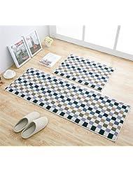 Merveilleux EUCH Non Slip Rubber Backing Carpet Kitchen Mat Doormat Runner Bathroom Rug  2 Piece Sets