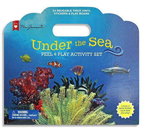 - Mrs. Grossman's - Undersea - Peel & Play Kids Activity Set with Reusable Vinyl Stickers & Fold-Out Story Board - with Storage & Travel Handle - for Boys & Girls Ages 3 & Up