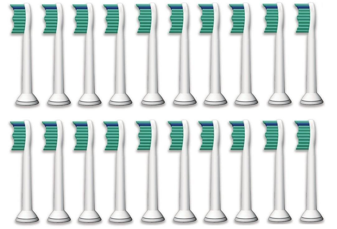 Accfun Sonicare Toothbrush Heads - Replacement for Philips Electric Sonic Care Tooth Brushes Dental HX 6014 ProResults, Platinum, EasyClean, DiamondClean, FlexCare, Gum Health models [20 Pack]