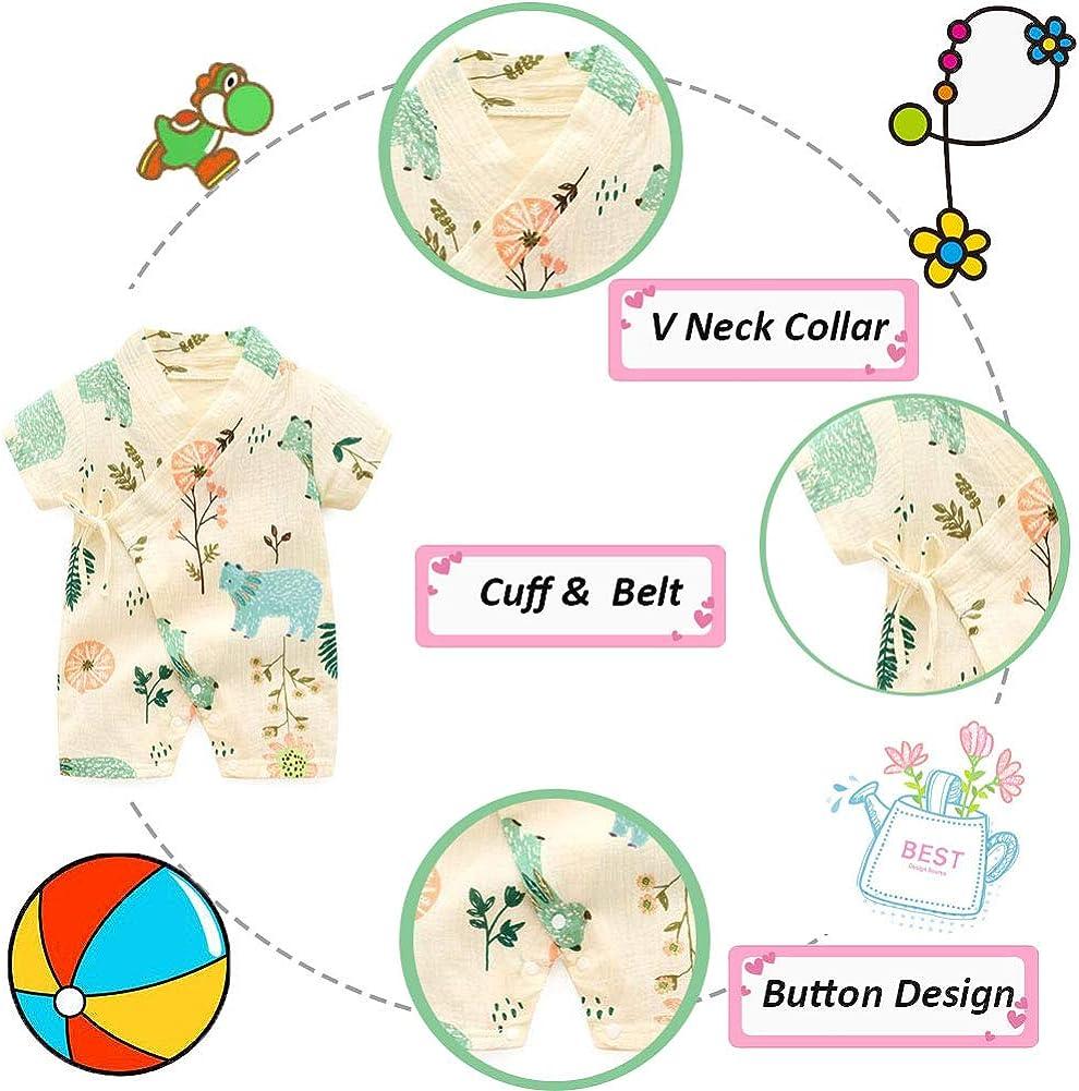 Neugeborene Kleidung Infant Japanische Pyjamas Baby Japanische Kimono Robe Kurzarm Strampler