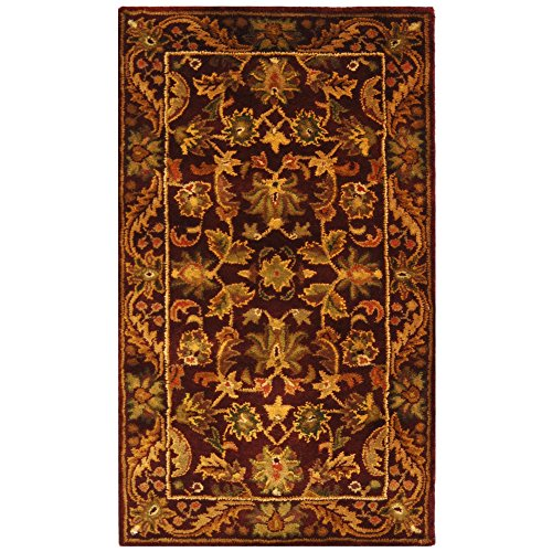 Safavieh Antiquities Collection AT52B Handmade Traditional Oriental Wine and Gold Wool Area Rug (2'3