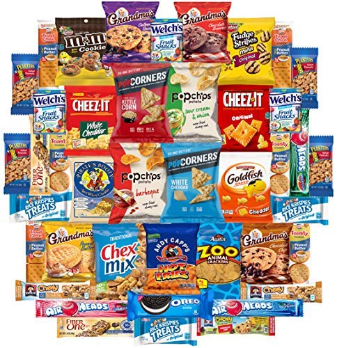 Cookies Chips & Candies Snacks Variety Pack Bulk Sampler Assortment by Variety Fun (Care Package 42 Count)