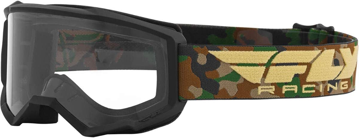 Camo//Clear//One Size Fly Racing Focus Youth Off-Road Motorcycle Goggles