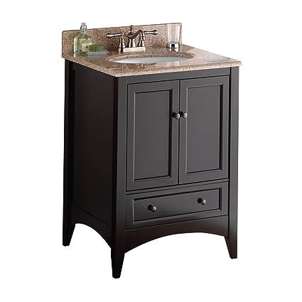Foremost Beca2421d Berkshire 24 Inch Espresso Bathroom Vanity